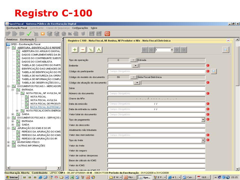 Registro C-100