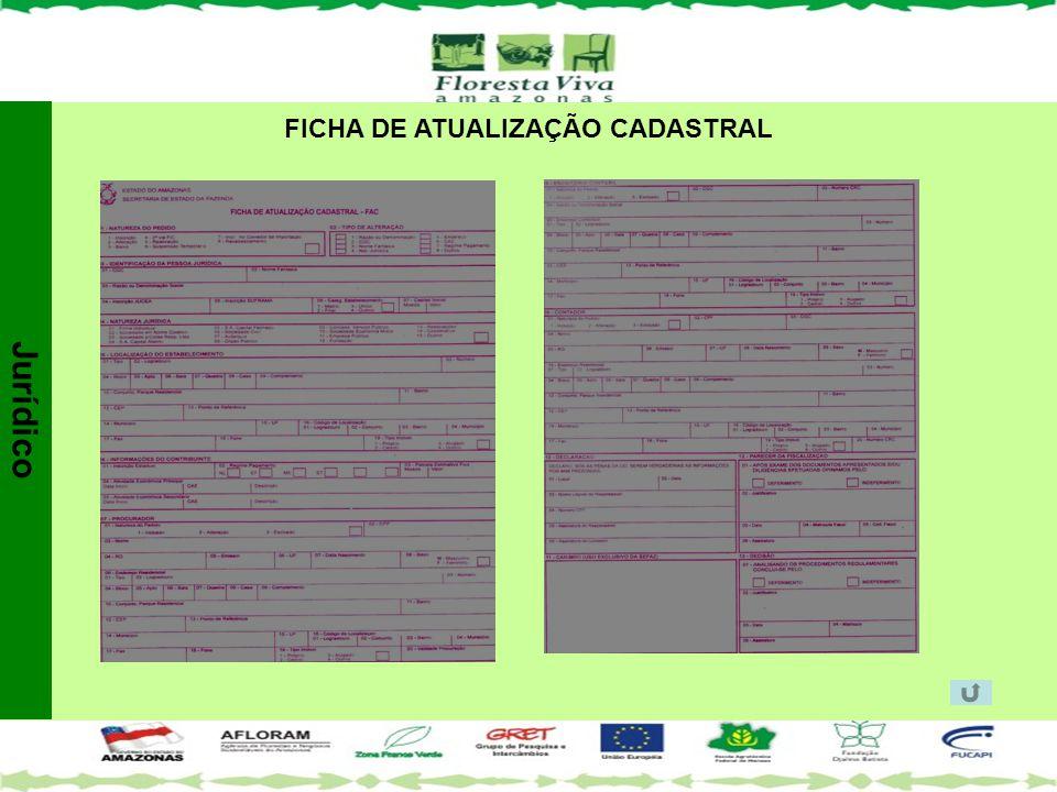 FICHA DE ATUALIZAÇÃO CADASTRAL Jurídico