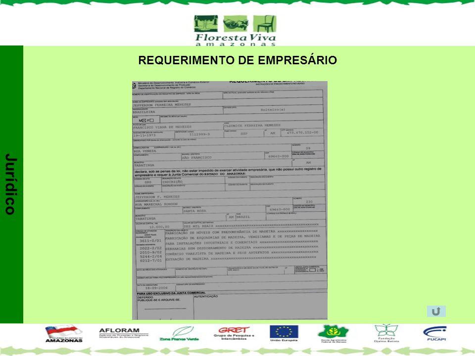 REQUERIMENTO DE EMPRESÁRIO Jurídico