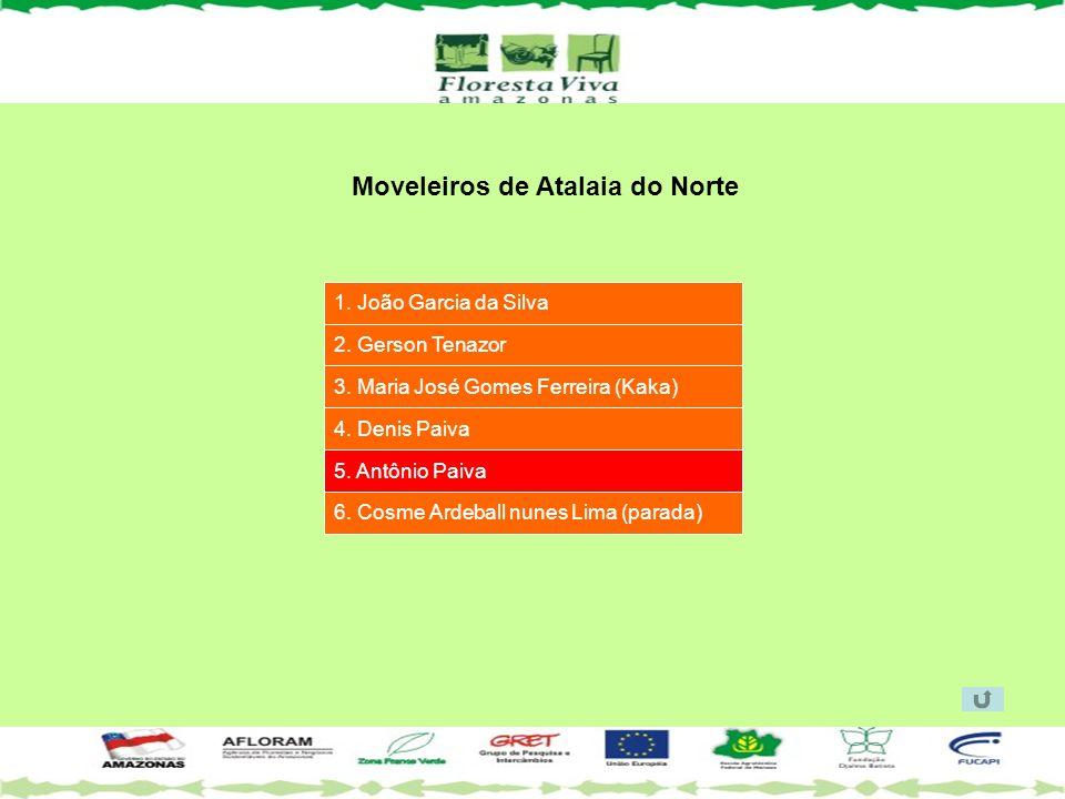 Moveleiros de Atalaia do Norte 1. João Garcia da Silva 2. Gerson Tenazor 3. Maria José Gomes Ferreira (Kaka) 4. Denis Paiva 5. Antônio Paiva 6. Cosme