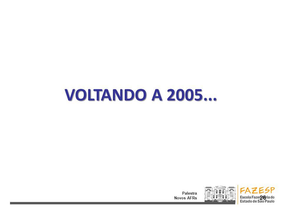 Palestra Novos AFRs VOLTANDO A 2005... 26