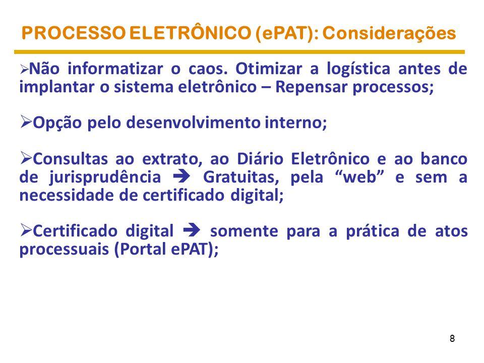 ePAT: TRANSPARÊNCIA TRANSPARÊNCIA NO CONTENCIOSO ADMINISTRATIVO ELETRÔNICO 29