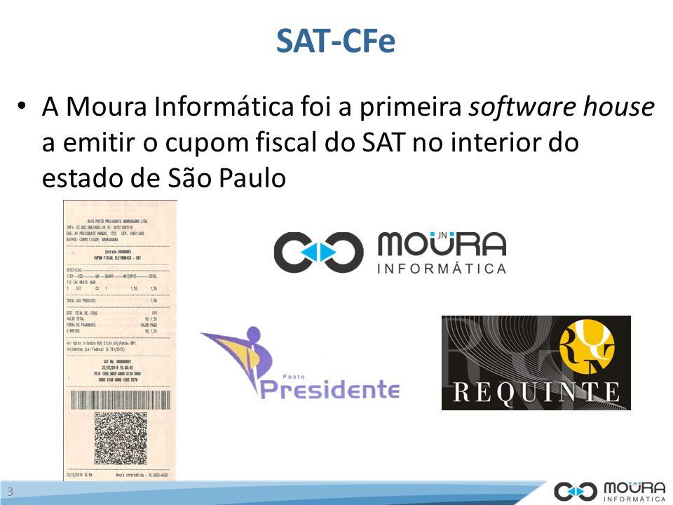 SAT-CFe A Moura Informática foi a primeira software house a emitir o cupom fiscal do SAT no interior do estado de São Paulo 3