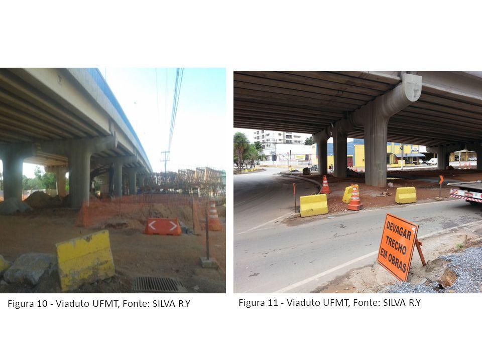 Figura 10 - Viaduto UFMT, Fonte: SILVA R.Y Figura 11 - Viaduto UFMT, Fonte: SILVA R.Y