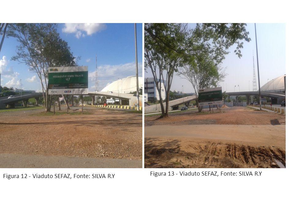 Figura 12 - Viaduto SEFAZ, Fonte: SILVA R.Y Figura 13 - Viaduto SEFAZ, Fonte: SILVA R.Y