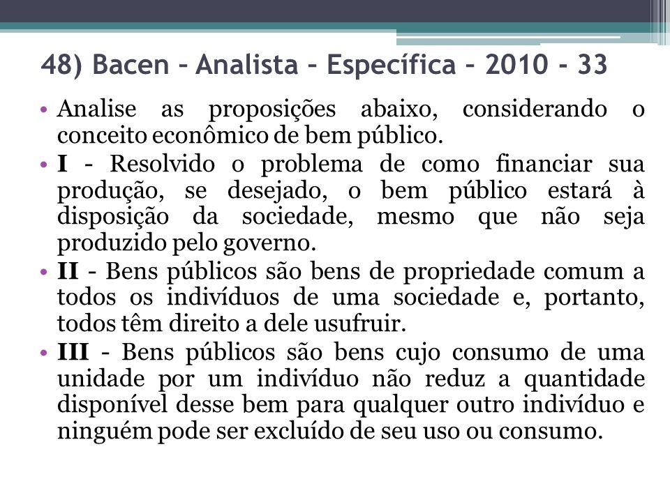 Analise as proposições abaixo, considerando o conceito econômico de bem público. I - Resolvido o problema de como financiar sua produção, se desejado,