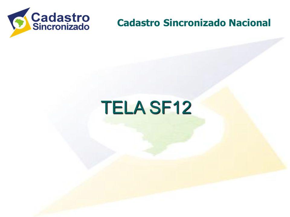 TELA SF12 Cadastro Sincronizado Nacional