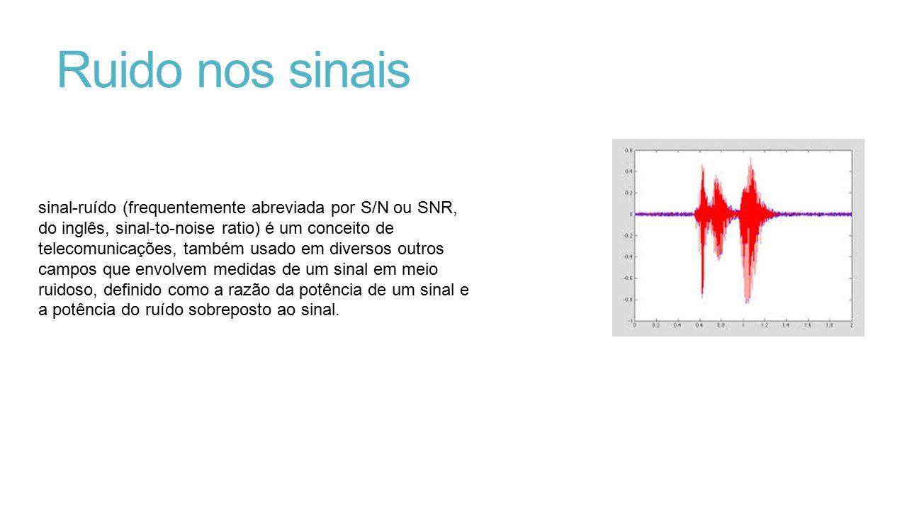 Ruido nos sinais sinal-ruído (frequentemente abreviada por S/N ou SNR, do inglês, sinal-to-noise ratio) é um conceito de telecomunicações, também usad