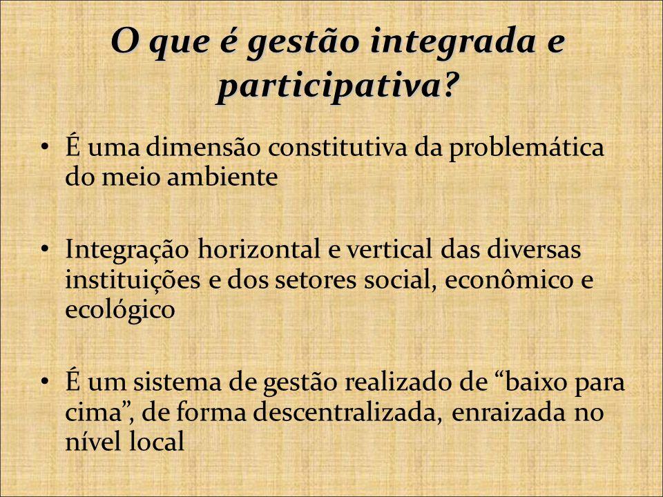 O que é gestão integrada e participativa.