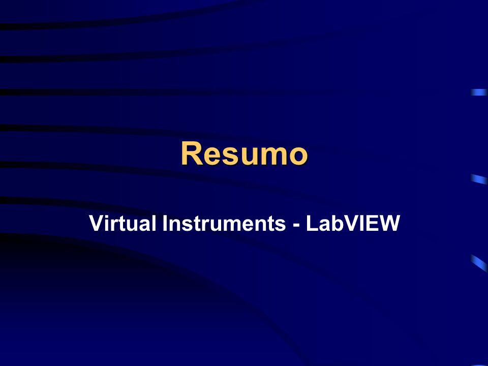Resumo Virtual Instruments - LabVIEW