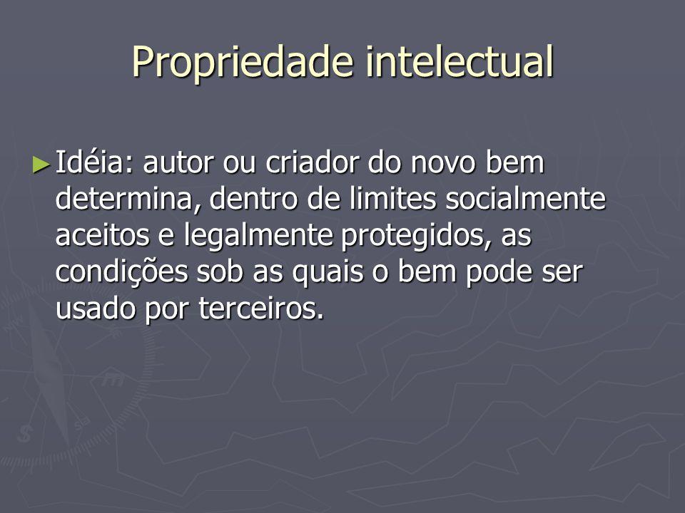 Propriedade intelectual ► Breve histórico:  Formalização com a invenção da impressão.