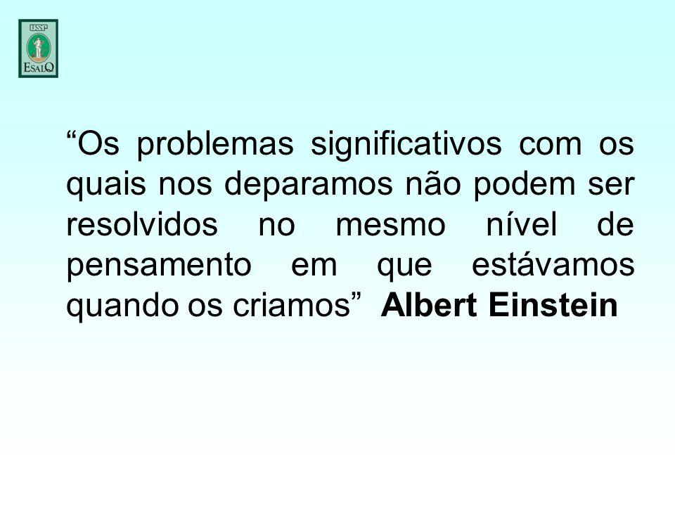 """""""Os problemas significativos com os quais nos deparamos não podem ser resolvidos no mesmo nível de pensamento em que estávamos quando os criamos"""" Albe"""