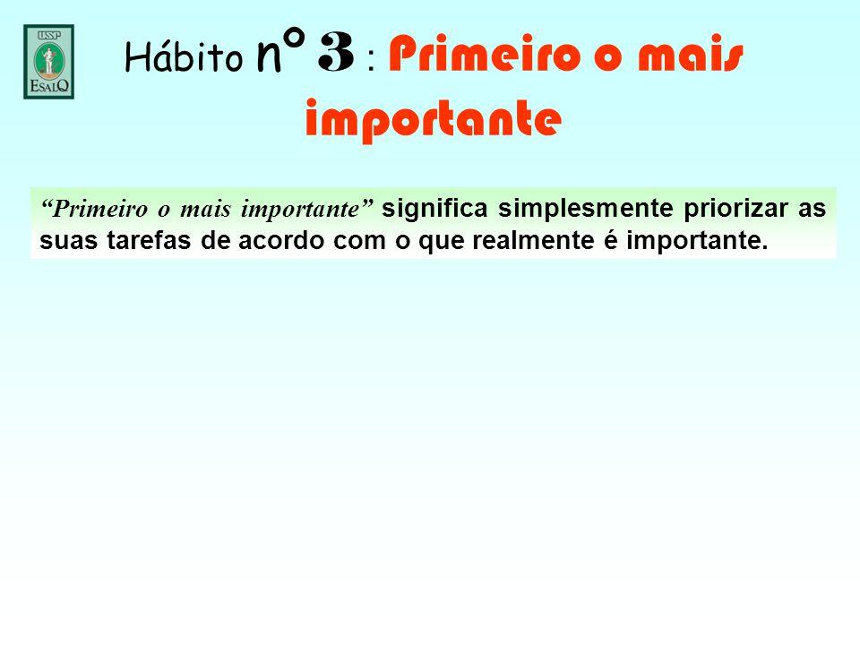 """""""Primeiro o mais importante"""" significa simplesmente priorizar as suas tarefas de acordo com o que realmente é importante."""