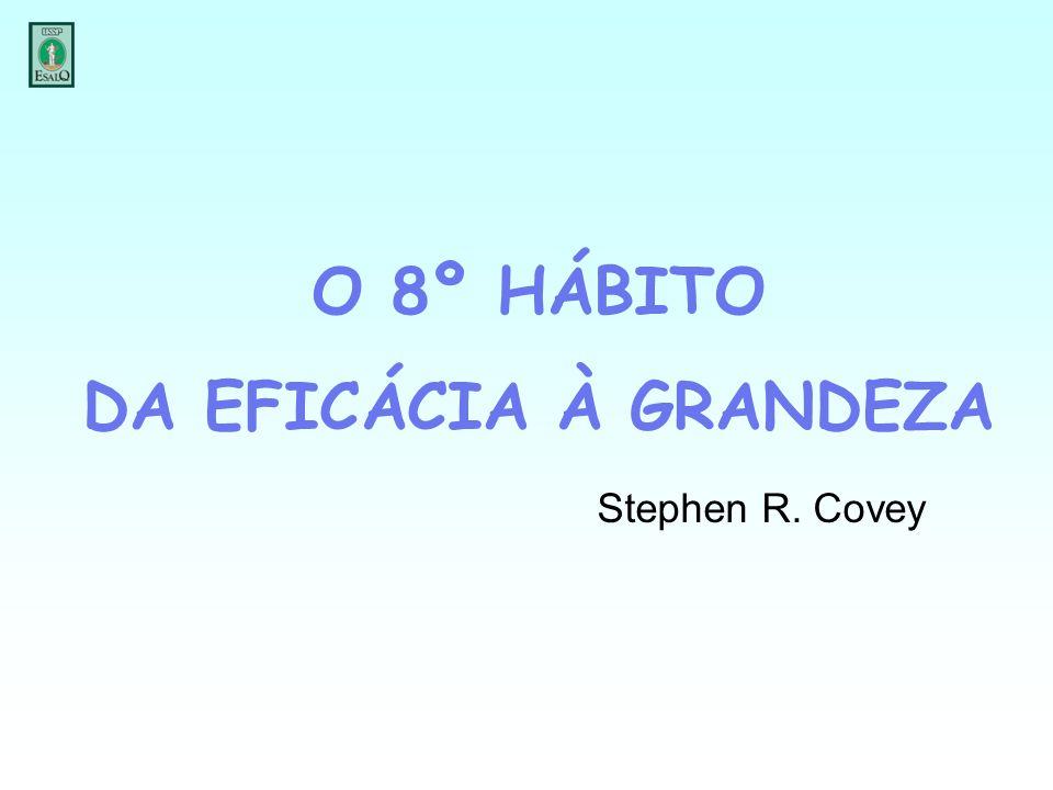 O 8º HÁBITO DA EFICÁCIA À GRANDEZA Stephen R. Covey