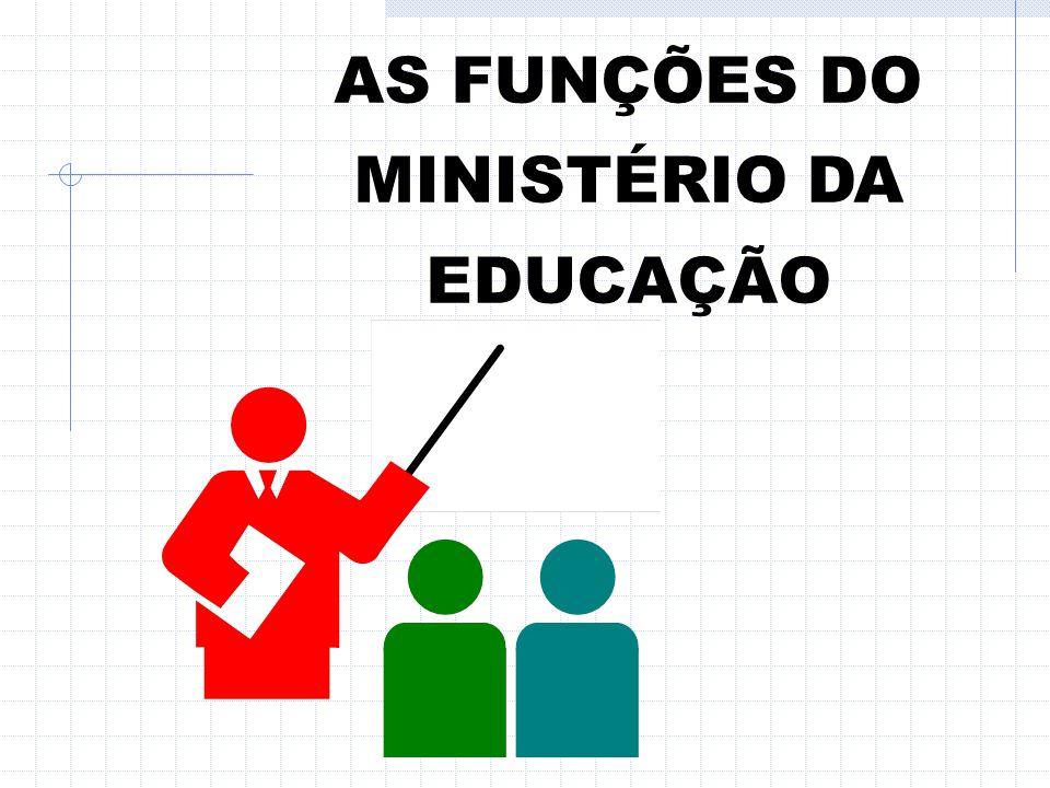 AS FUNÇÕES DO MINISTÉRIO DA EDUCAÇÃO
