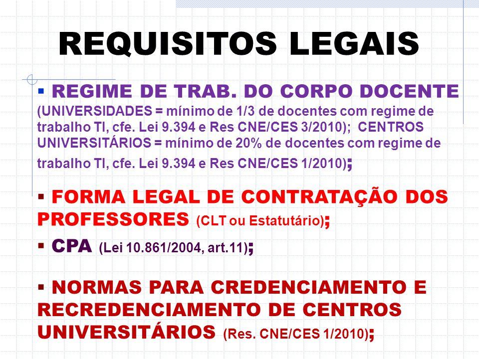 REQUISITOS LEGAIS  CONDIÇÕES DE ACESSIBILIDADE (CF 88, arts. 205, 206 e 208, Lei 10.098/2000, DL 5.296/2004, 6.949/2009, 7.611/2011 e Portaria 3.284/