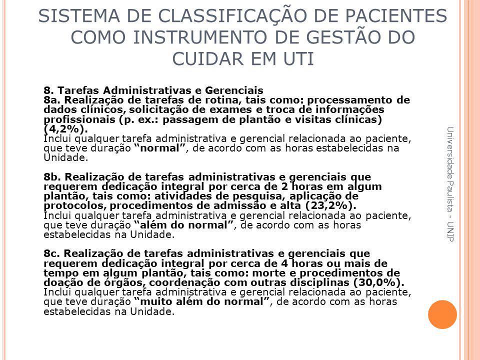 8. Tarefas Administrativas e Gerenciais 8a. Realização de tarefas de rotina, tais como: processamento de dados clínicos, solicitação de exames e troca