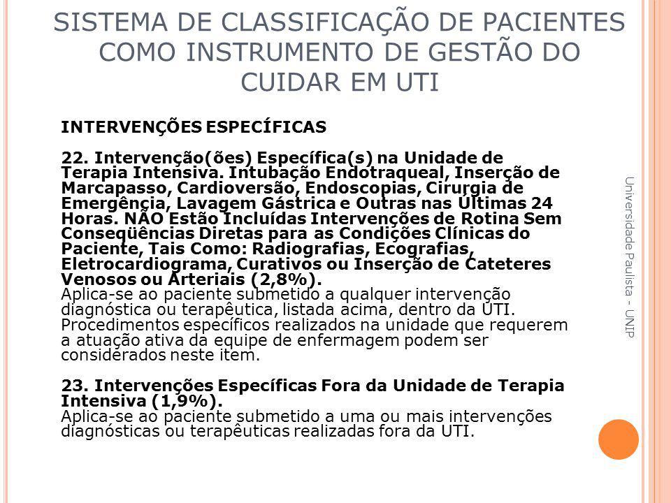 INTERVENÇÕES ESPECÍFICAS 22. Intervenção(ões) Específica(s) na Unidade de Terapia Intensiva. Intubação Endotraqueal, Inserção de Marcapasso, Cardiover
