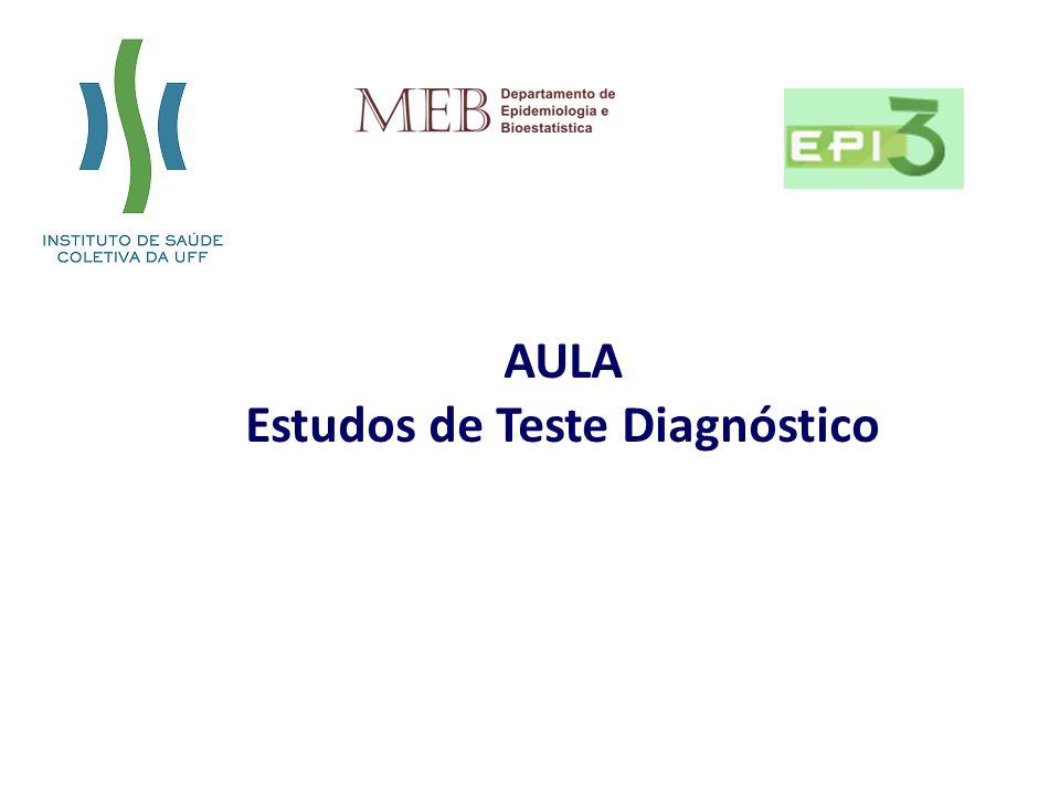 AULA Estudos de Teste Diagnóstico