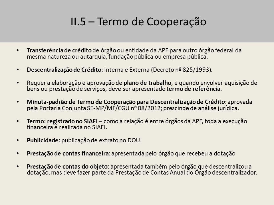III – Celebração do Termo de Convênio Condições para celebração do Convênio ou Contrato de Repasse – Condições estabelecidas no art.