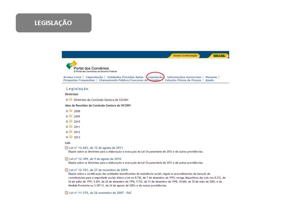 Decreto nº.6.170, de 25 de julho de 2007; Portaria Interministerial nº.