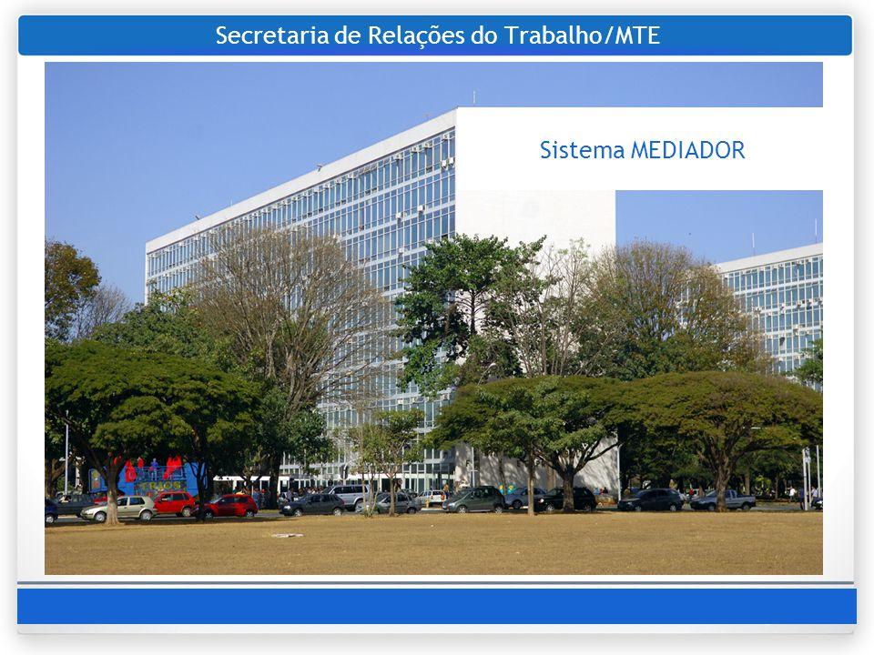 Secretaria de Relações do Trabalho/MTE Sistema MEDIADOR