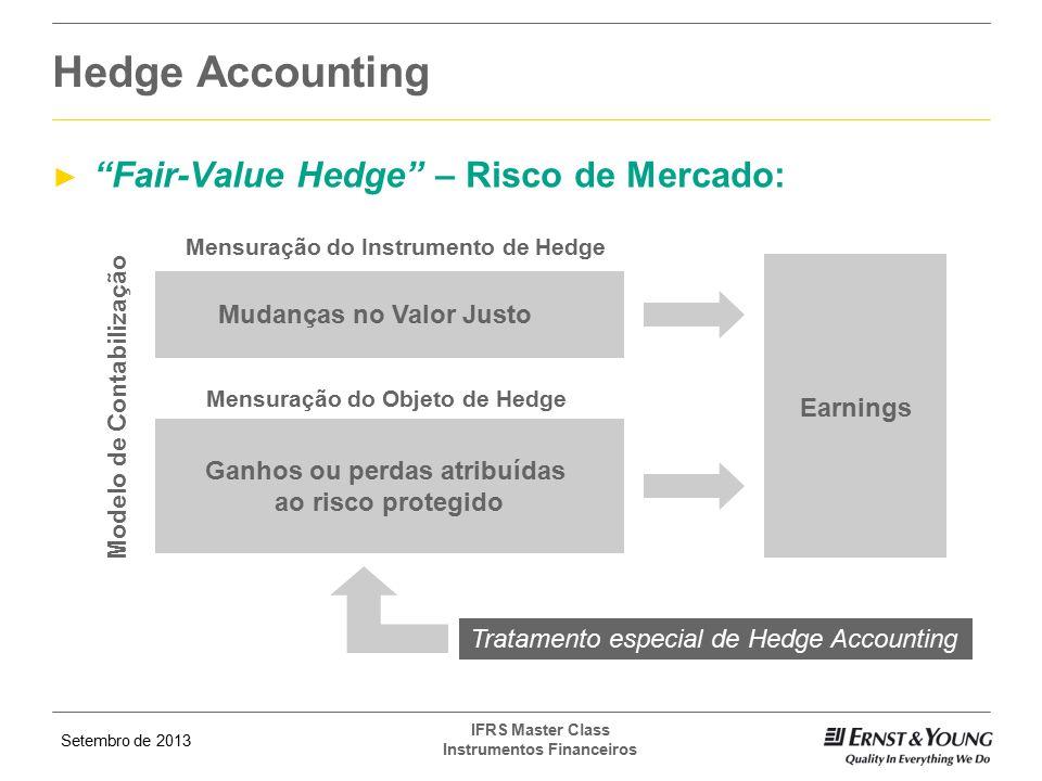 """Setembro de 2013 IFRS Master Class Instrumentos Financeiros ► """"Fair-Value Hedge"""" – Risco de Mercado: Hedge Accounting Mensuração do Instrumento de Hed"""
