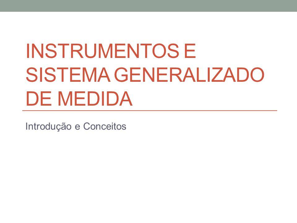 Roteiro Modelo de um Instrumento genérico de medida Elementos funcionais de um instrumento; Transdutores Ativos e Passivos; Princípio da deflexão e da nulidade; Configuração Entrada-Saída e tipos de entradas; Métodos de Correção para entradas indesejáveis;