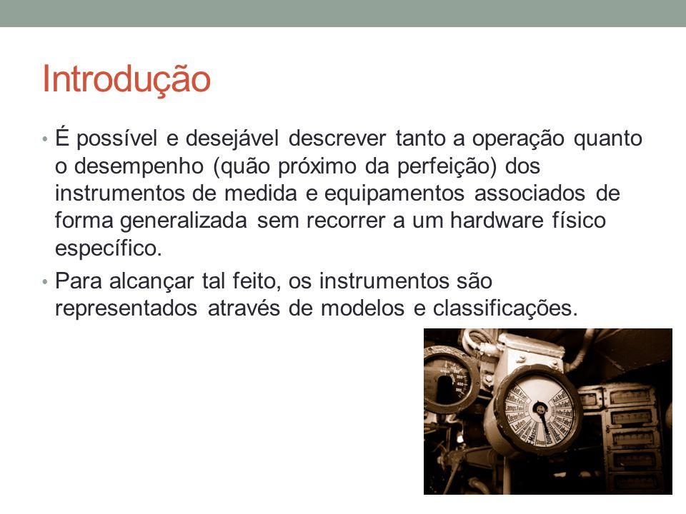 Introdução É possível e desejável descrever tanto a operação quanto o desempenho (quão próximo da perfeição) dos instrumentos de medida e equipamentos
