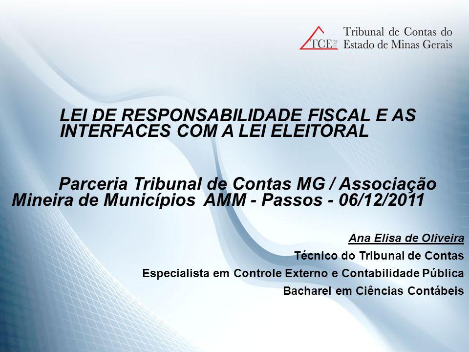 CONTROLE E AVALIAÇÃO => Escrituração e consolidação das contas => Relatório Resumido da Execução Orçamentária => Relatório de Gestão Fiscal