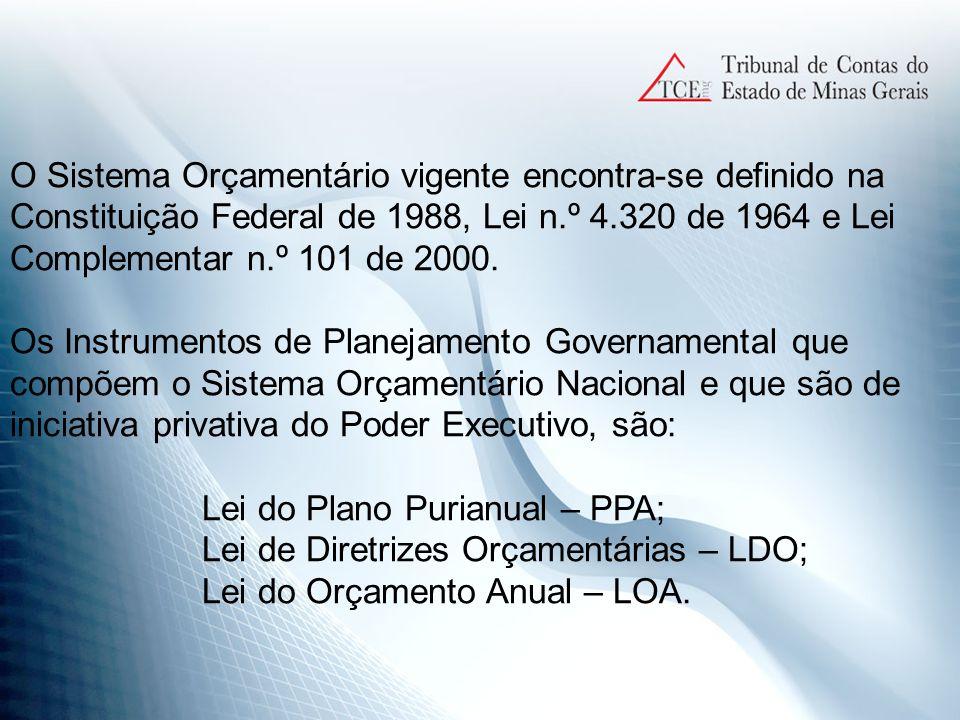 PLANO PLURIANUAL - PPA Plano de trabalho de Governo de natureza político- administrativa para o período de sua gestão governamental.