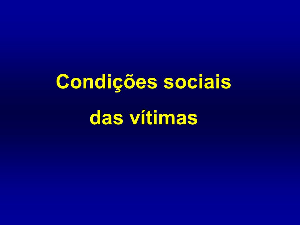Condições sociais das vítimas