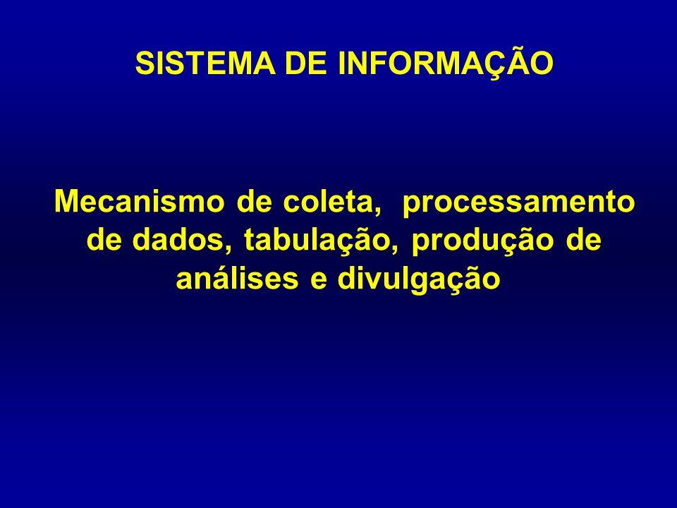 DIVULGAÇÃO CD-ROM do Ministério da Saúde TABNET Tabulações on-line pela Internet Brasil: Datasus com atraso de cerca de 2-3 anos com dados agregados por município, unidade da federação, região e país