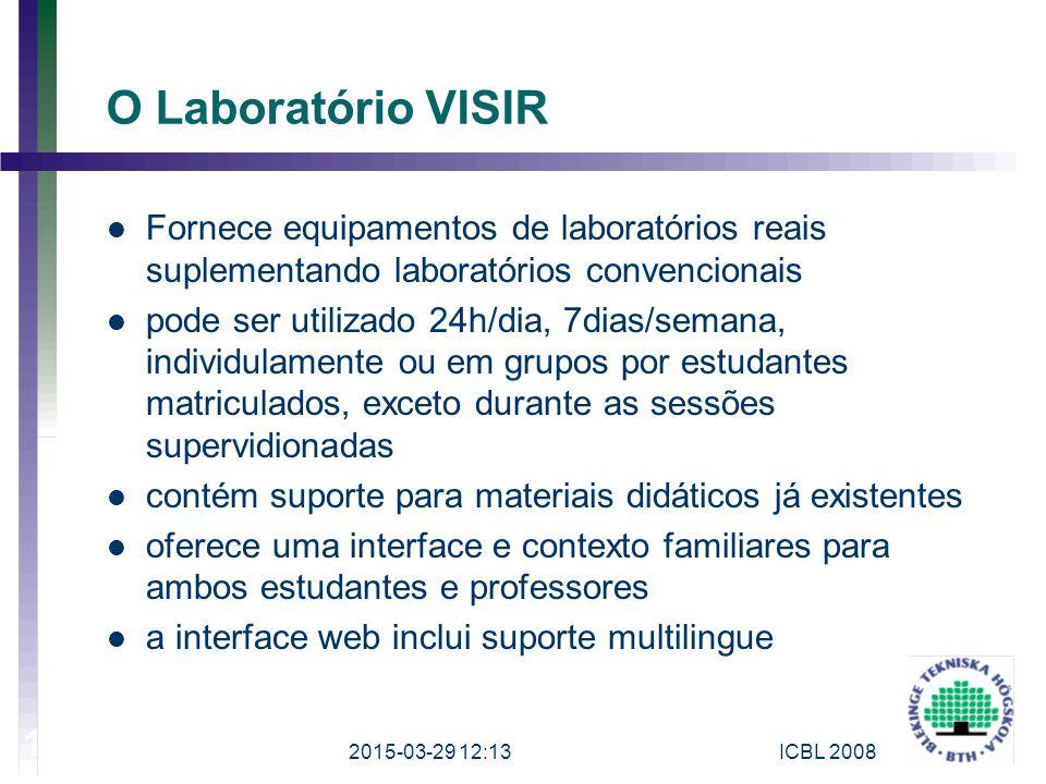 O Laboratório VISIR Fornece equipamentos de laboratórios reais suplementando laboratórios convencionais pode ser utilizado 24h/dia, 7dias/semana, indi