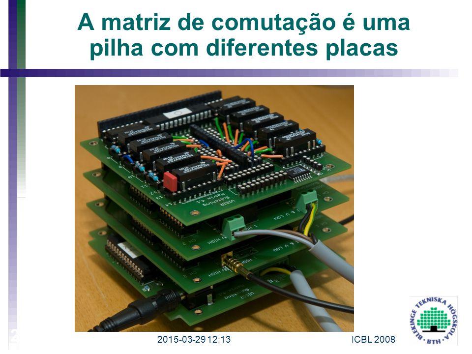 A matriz de comutação é uma pilha com diferentes placas 2015-03-29 12:15 25 ICBL 2008