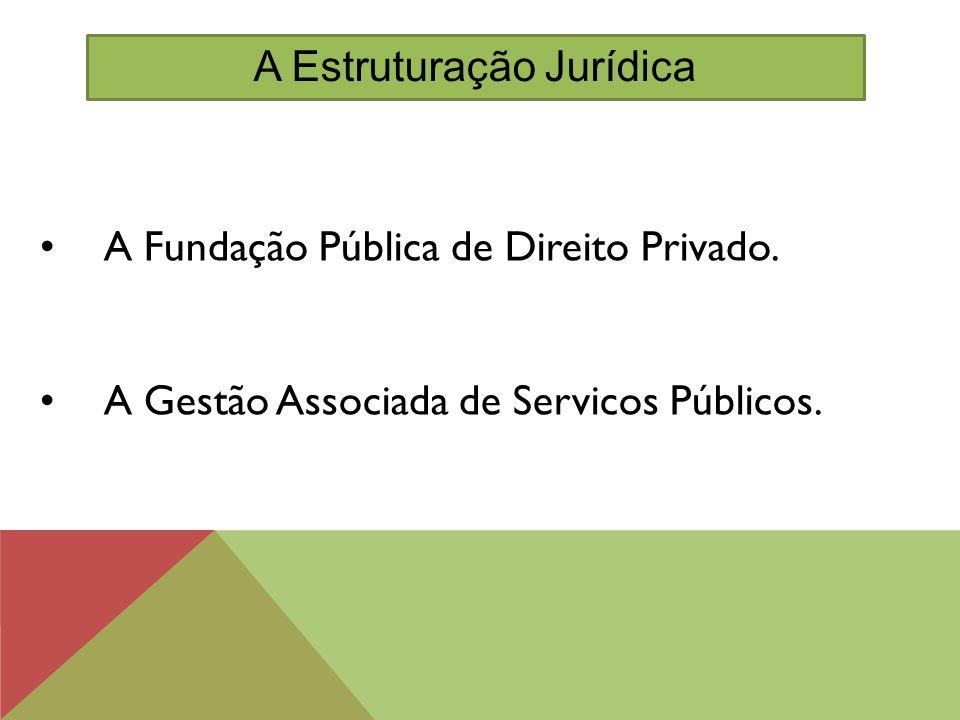 A Fundação Pública de Direito Privado. A Gestão Associada de Servicos Públicos. A Estruturação Jurídica