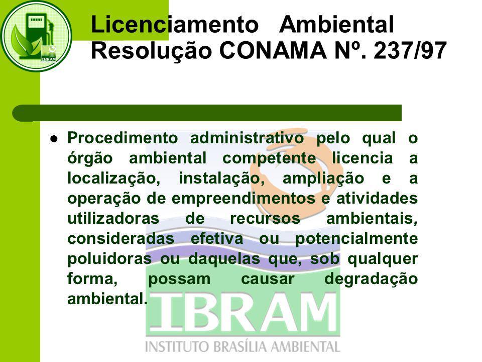 Licenciamento Ambiental Resolução CONAMA Nº.