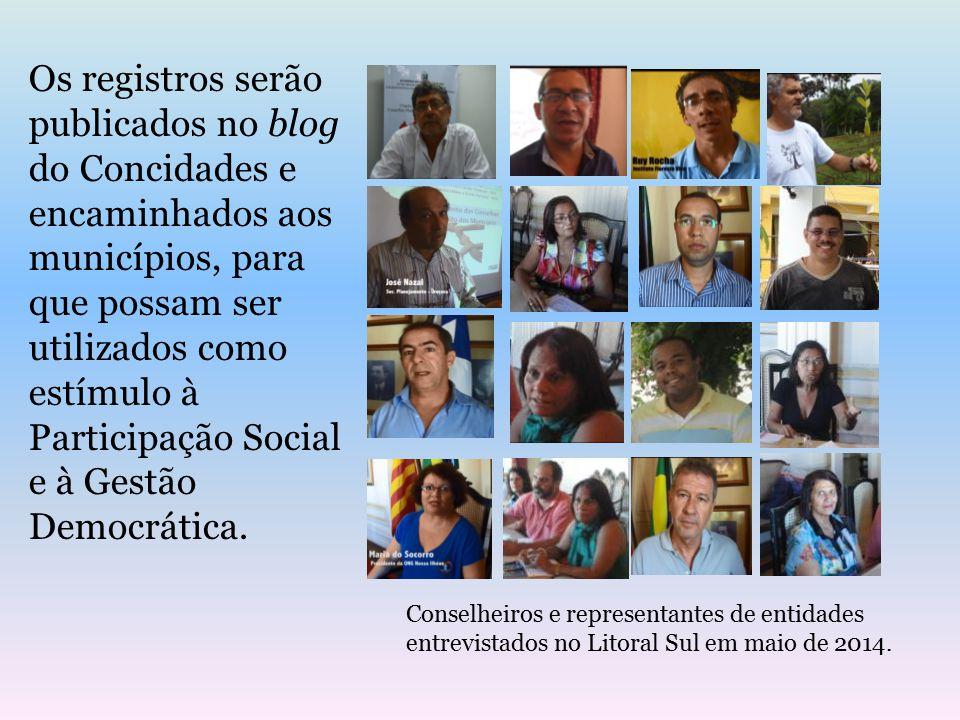 Os registros serão publicados no blog do Concidades e encaminhados aos municípios, para que possam ser utilizados como estímulo à Participação Social e à Gestão Democrática.