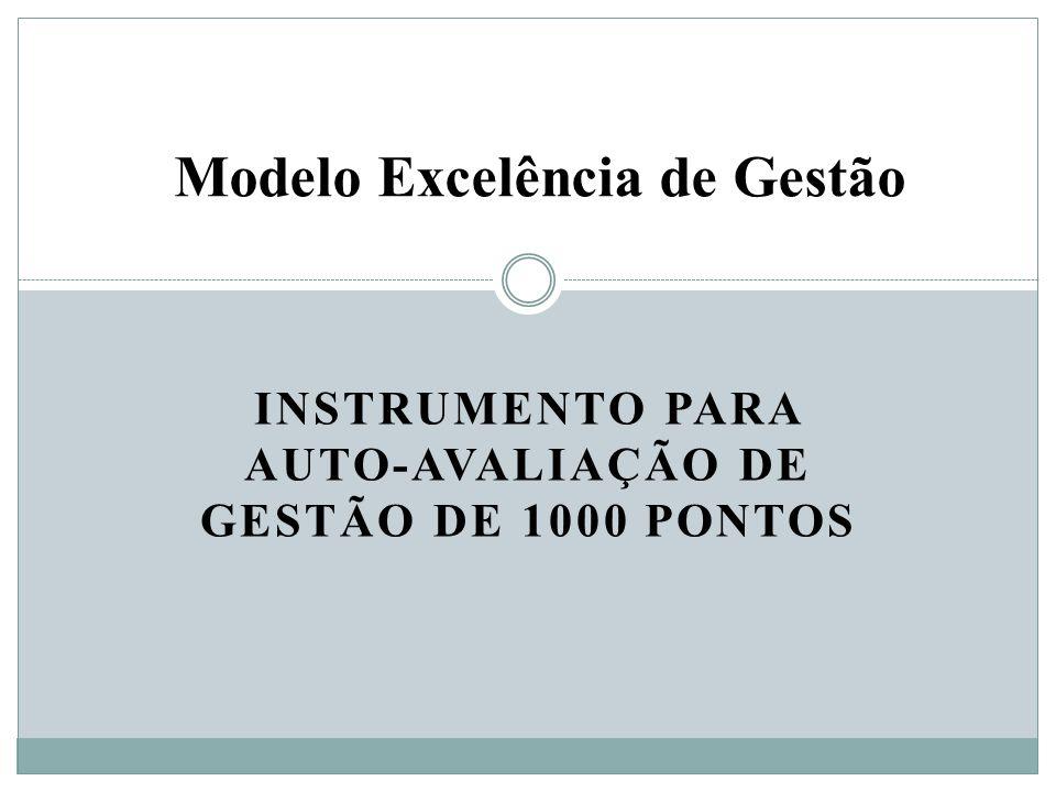 INSTRUMENTO PARA AUTO-AVALIAÇÃO DE GESTÃO DE 1000 PONTOS Modelo Excelência de Gestão