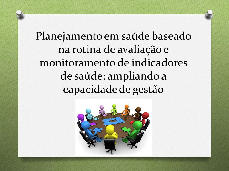Planejamento em saúde baseado na rotina de avaliação e monitoramento de indicadores de saúde: ampliando a capacidade de gestão