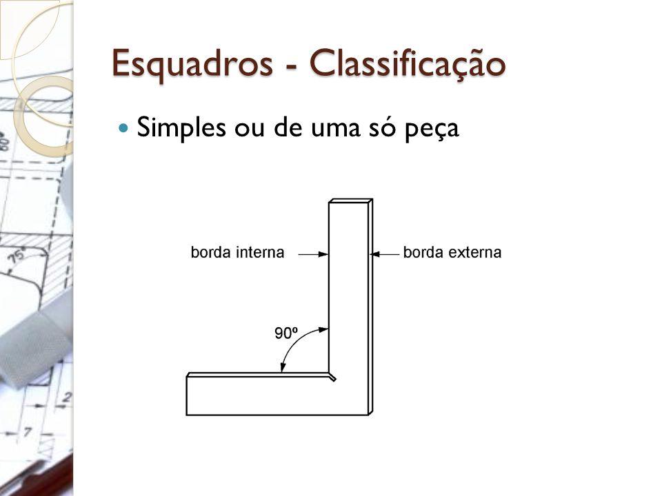 Esquadros - Classificação Simples ou de uma só peça