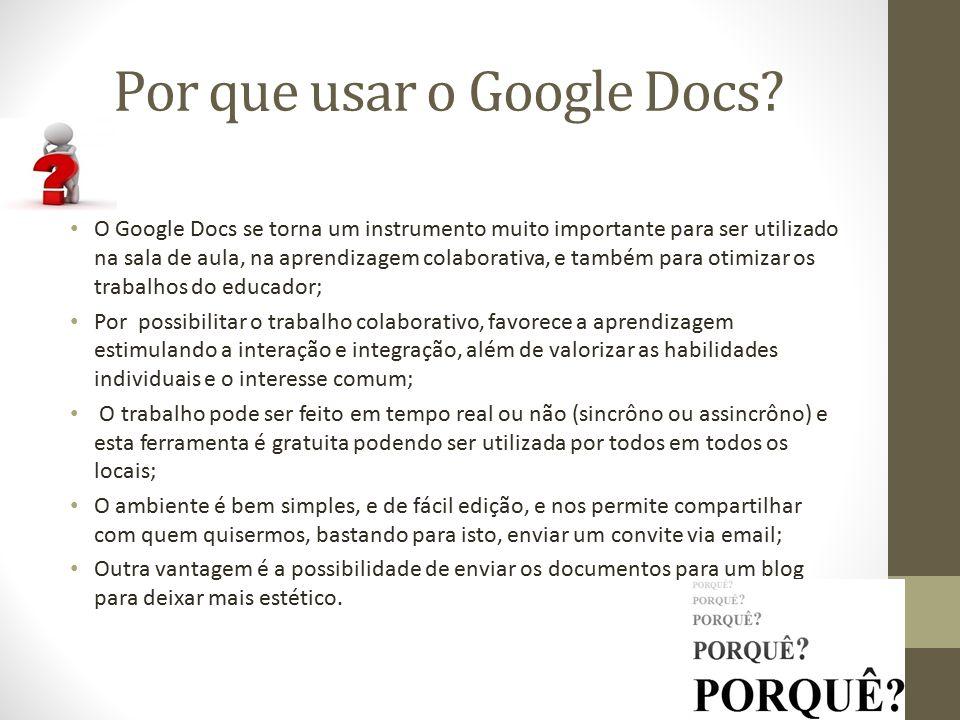 Por que usar o Google Docs.