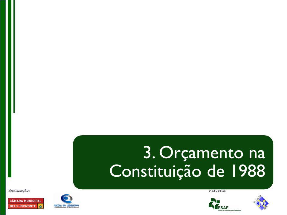 Realização: Parceria: 3. Orçamento na Constituição de 1988
