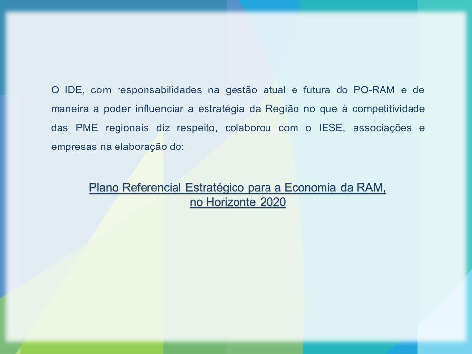 O Plano Referencial Estratégico para a Economia da RAM teve por objetivo satisfazer a necessidade de construir uma visão compreensiva da evolução recente e das perspetivas futuras da economia regional, nomeadamente quanto às suas prioridades de consolidação no horizonte 2020 .