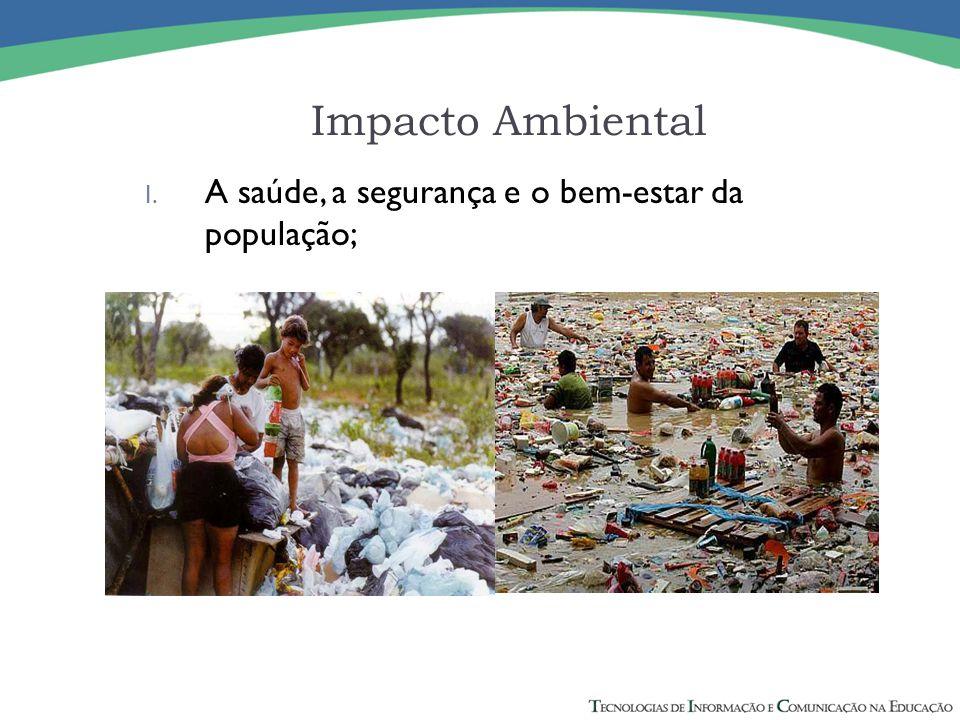 II. As atividades sociais e econômicas: Impacto Ambiental