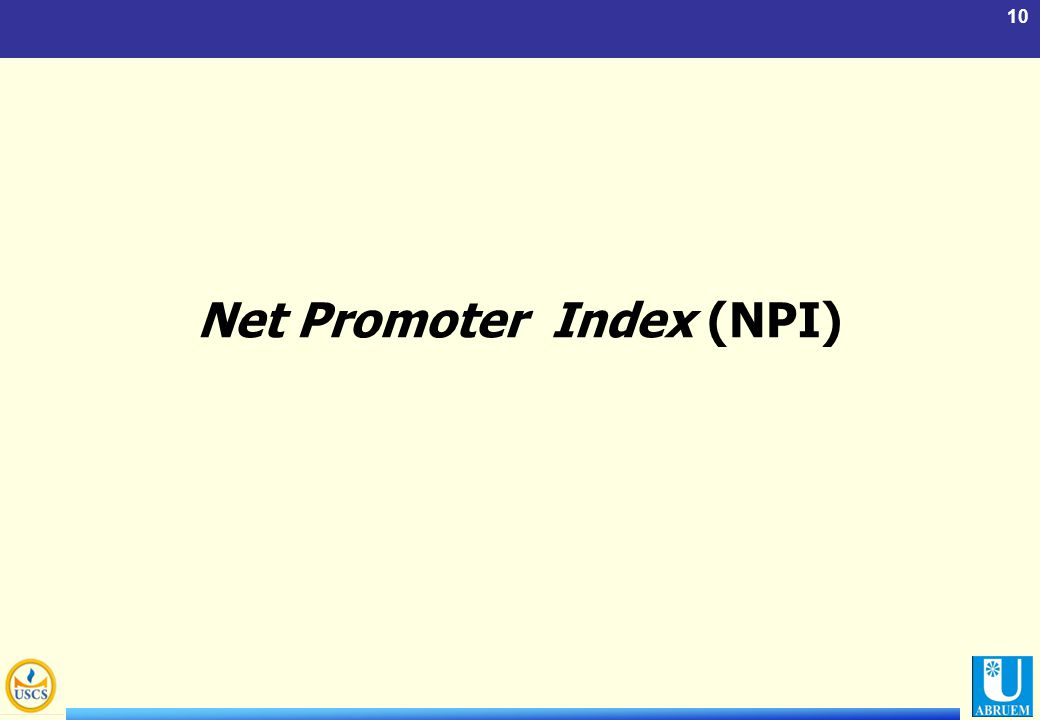 10 Net Promoter Index (NPI)