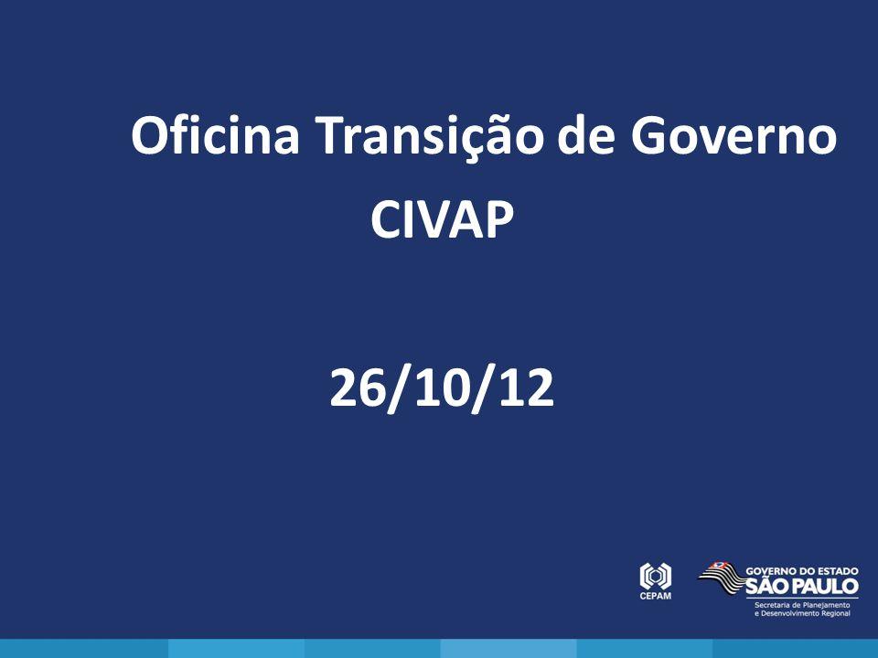 Oficina Transição de Governo CIVAP 26/10/12