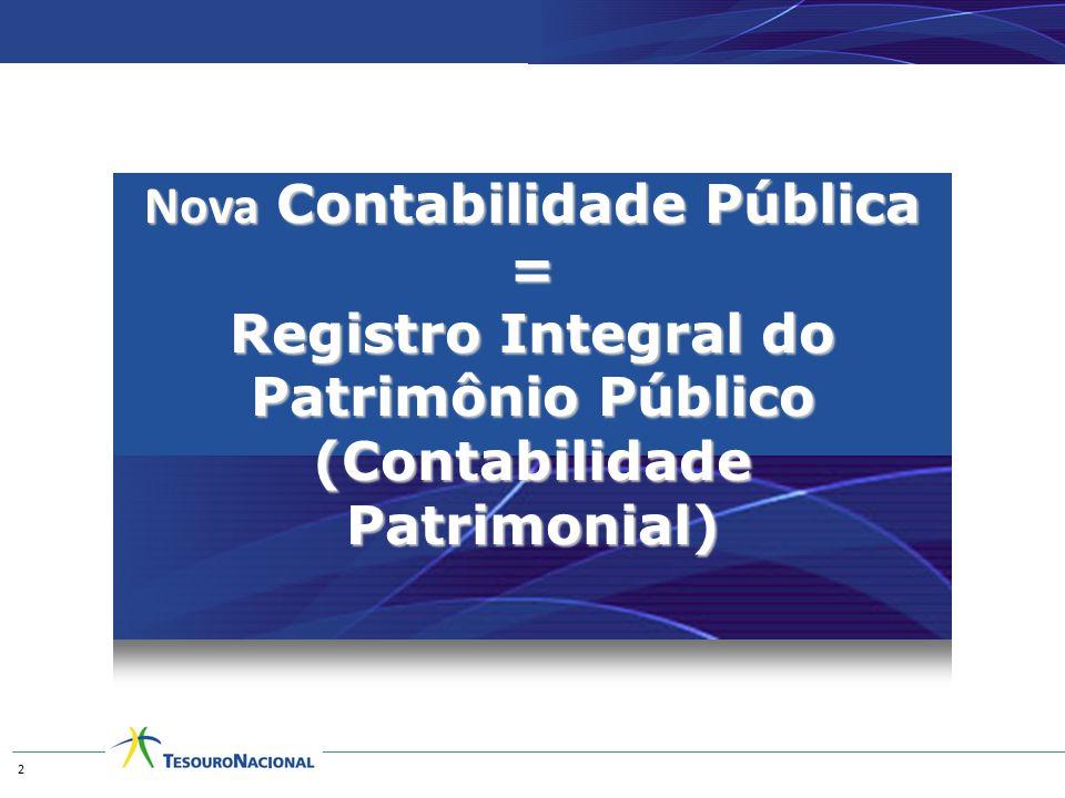 Nova Contabilidade Pública = Registro Integral do Patrimônio Público (Contabilidade Patrimonial) 2