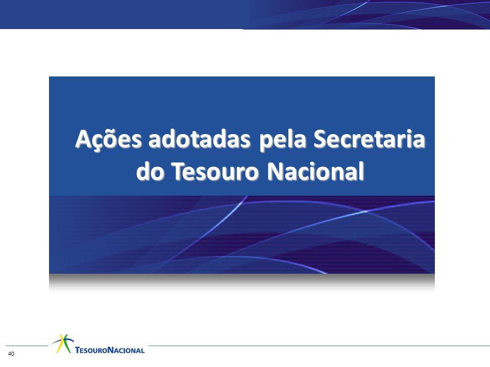 Ações adotadas pela Secretaria do Tesouro Nacional 40