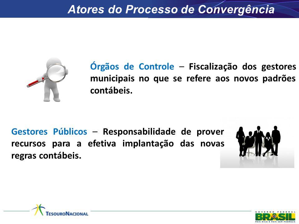 Órgãos de Controle – Fiscalização dos gestores municipais no que se refere aos novos padrões contábeis. Gestores Públicos – Responsabilidade de prover